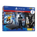 Consola Sony PlayStation 4 PS4 500GB Pack PlayStation Hits + Ratchet & Clank + Uncharted 4 + The Last of US