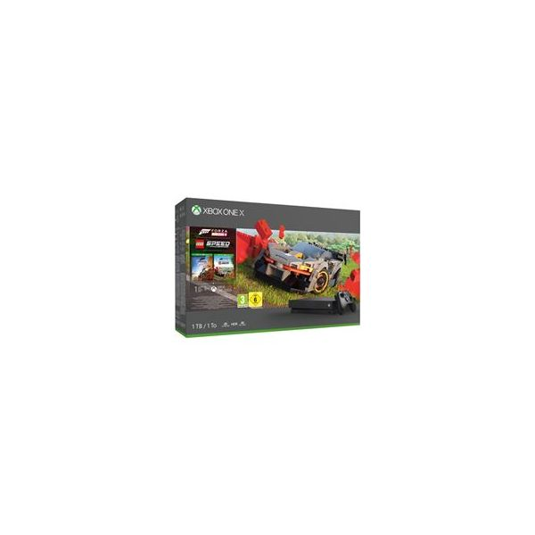 Consola Microsoft Xbox One X 1TB Forza Horizon 4 + Lego Speed Champions Black