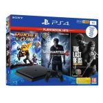 Consola Sony PlayStation 4 PS4 Slim 1TB Pack PlayStation Hits + Ratchet & Clank + Uncharted 4 + The Last of US