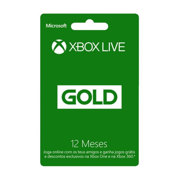 Xbox 360 Live Gold card 12 Months