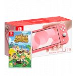 Nintendo Switch Lite Coral + Animal Crossing: New Horizons