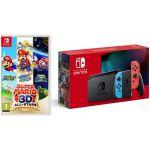 Nintendo Switch Neon Blue/Red V2 + Super MArio 3D All Stars