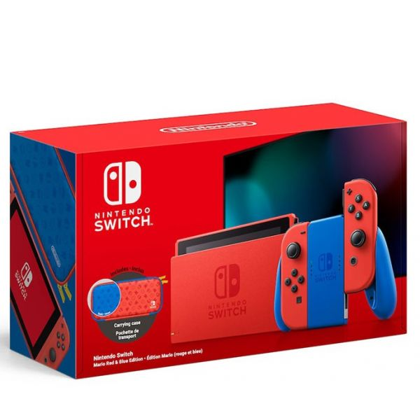 Nintendo Switch V2 Mario Red & Blue Edition
