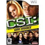 Jogo CSI Crime Scene Investigation Hard Evidence Wii